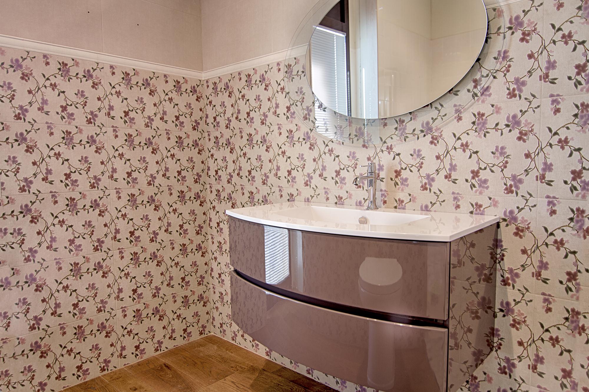 Specchio ovale e mobile completo di lavabo bagno e accessori arredo bagno casastore - Specchio bagno ovale ...