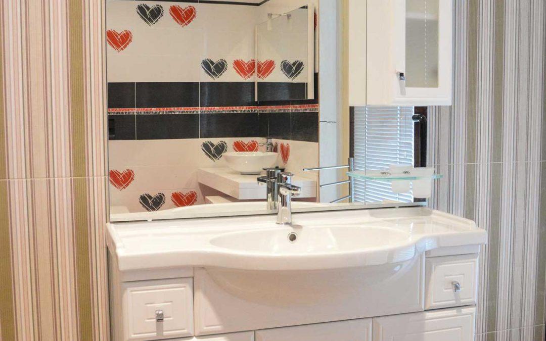 EGO: washbasin with base, mirror and cabinet