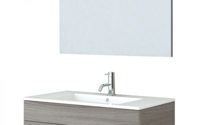 Mobile bagno completo con specchio – (Scuro)