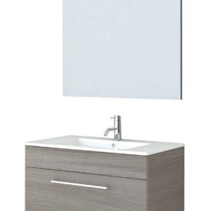 Mobile bagno completo con specchio - (scuro)